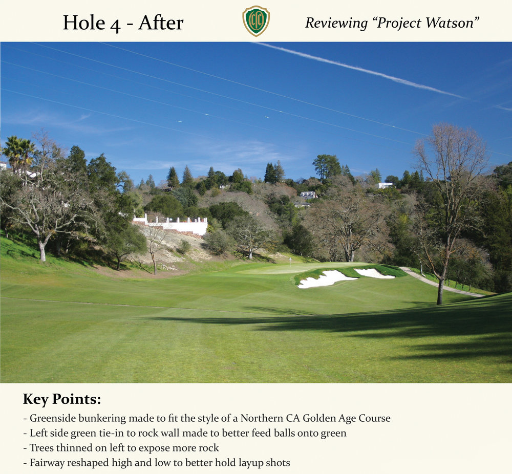 The new bunker style is much more complementary to the course and Northern California golf in general.