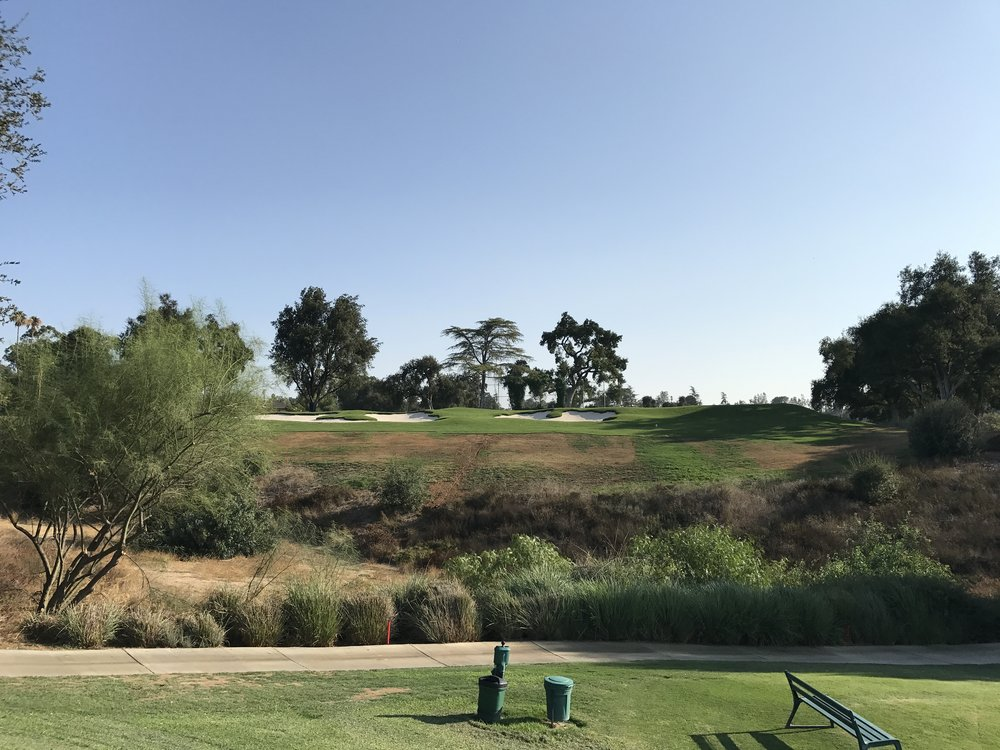 View of the right side bunkers from the 16th tee