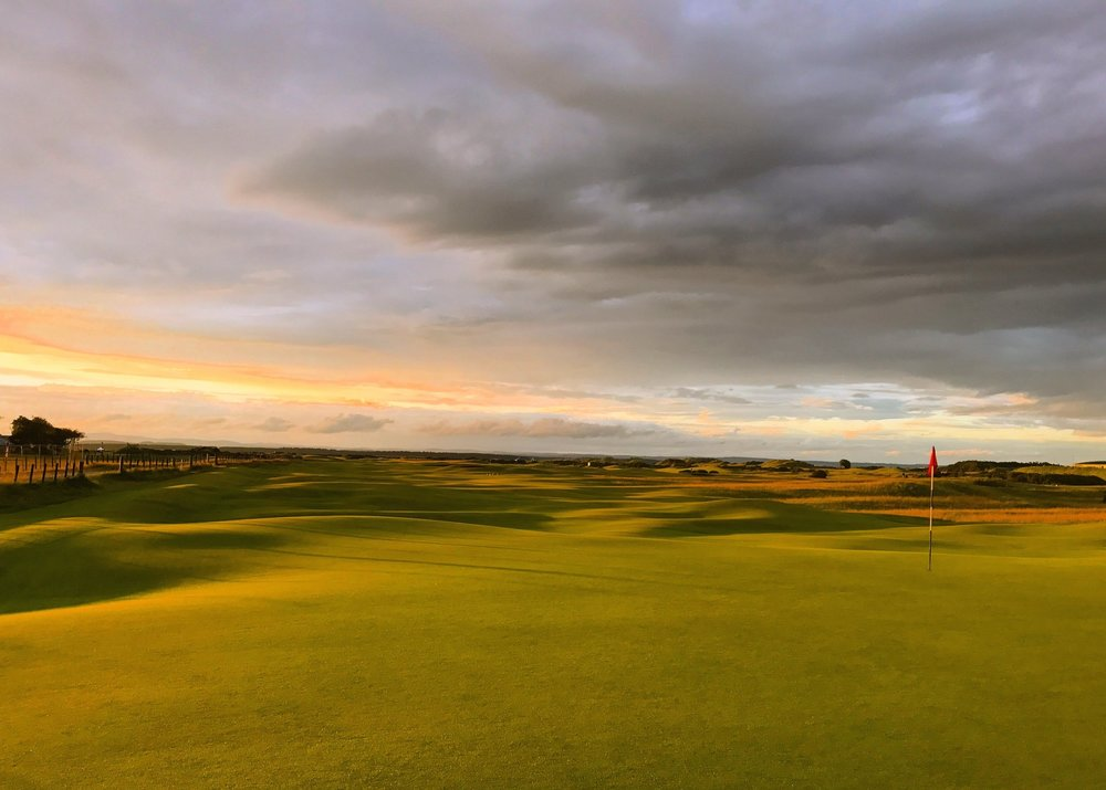 It doesn't get any better than the rumply ground at The Old Course.