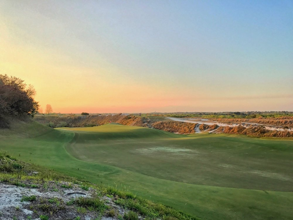 Rear view of Streamsong Red's take on the Biarritz