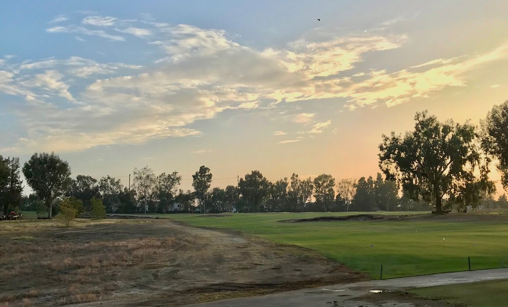 New 7th hole bunkers at Santa Ana still in the dirt