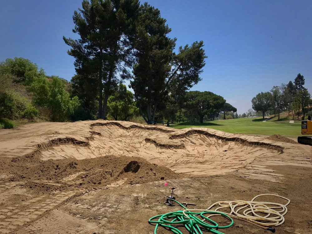 Hole 18 fairway bunker almost finished, Saticoy Club