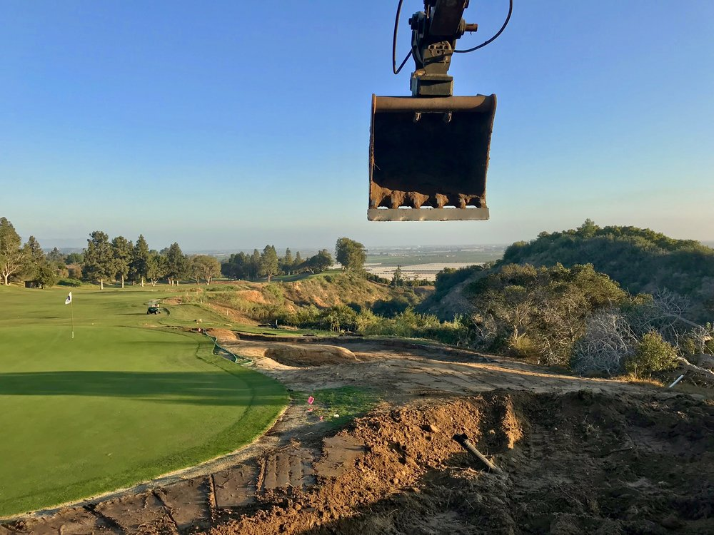 Good views, solitude, and beautiful evening light were the perks of working around the 14th green at Saticoy.