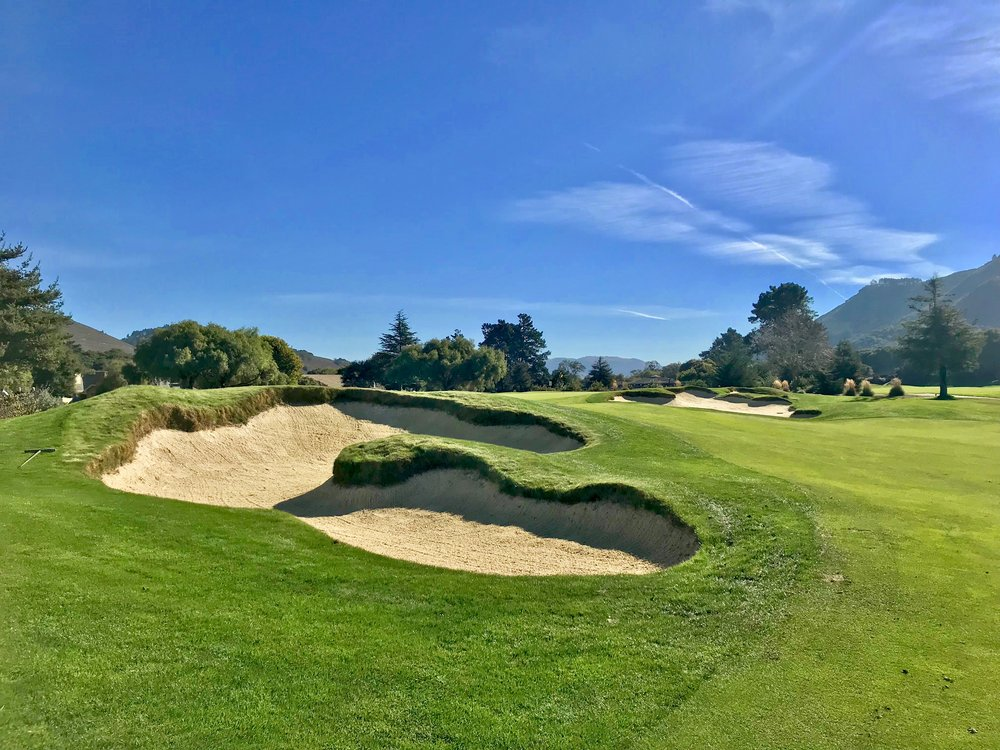 Jonathan Reisetter and Todd Eckenrode created some beautiful bunkering at Quail Lodge