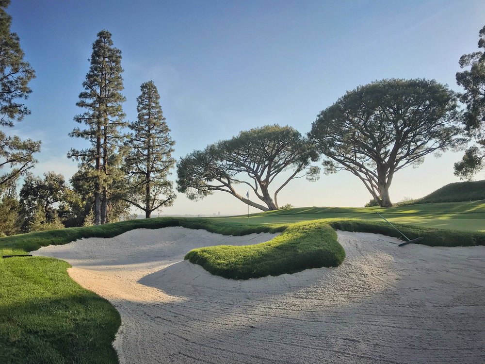 "Whether or not you classify this as ""fancy,"" it's only fair here to use a bunker I've built after that title question. This is the 13th hole at The Saticoy Club, whose bunkers we re-designed last year with Thad Layton of Arnold Palmer Design Co."
