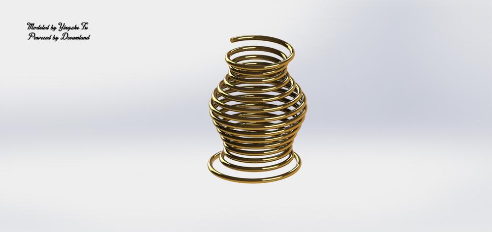 Non-linear Spring for Flower Vase Design