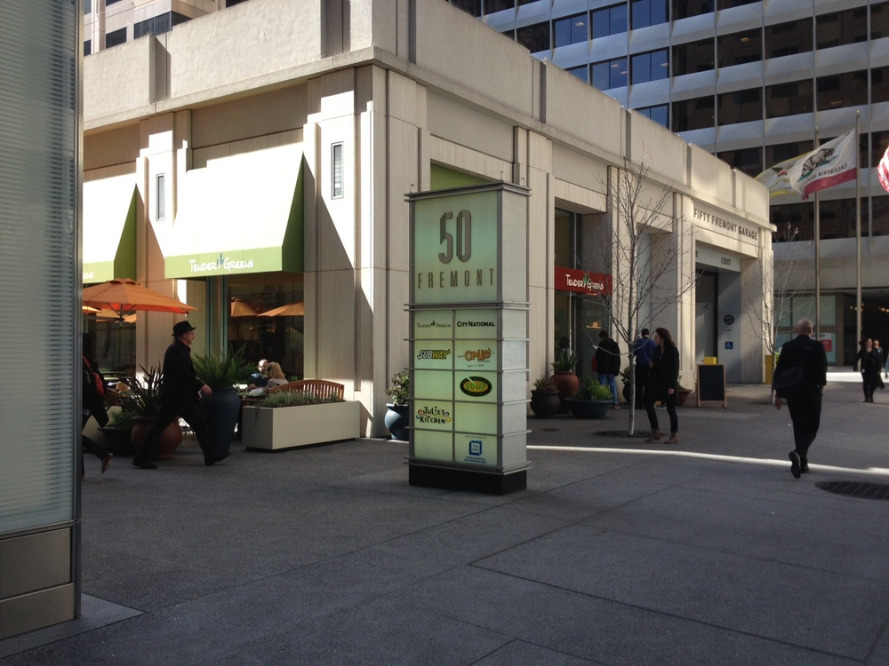 From Embarcadero station to 50 Fremont Street where Consulate General of Japan located