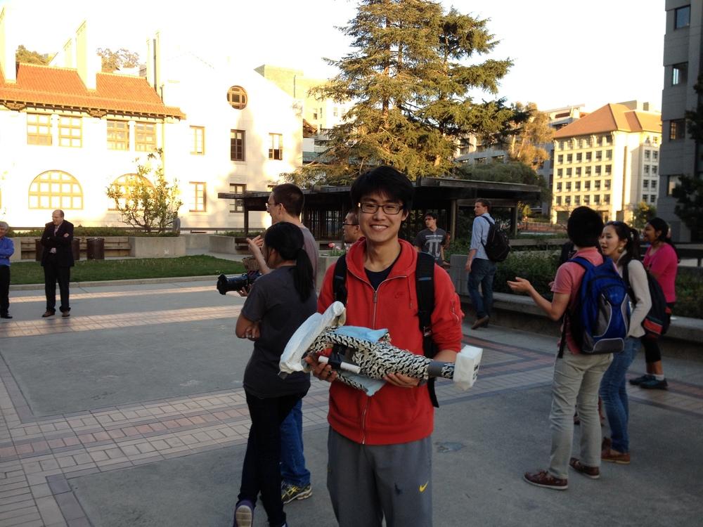 Mustache Missile Ship - UC Berkeley Engineering Week 2014 Design and Build Winning Team