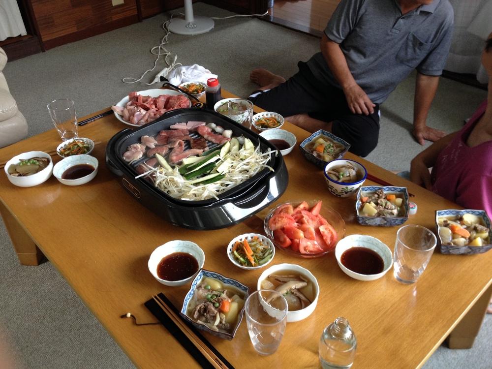 Last dinner with my dear host family