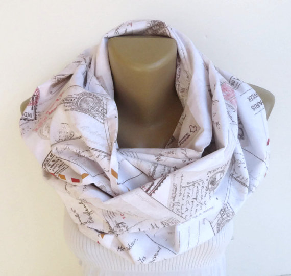 Letter Book Infinity Scarf $22