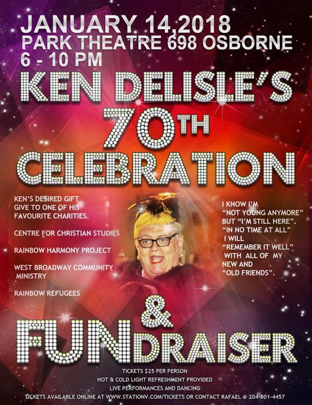 Ken Delisle's 70th Birthday Celebration and FUNdraiser