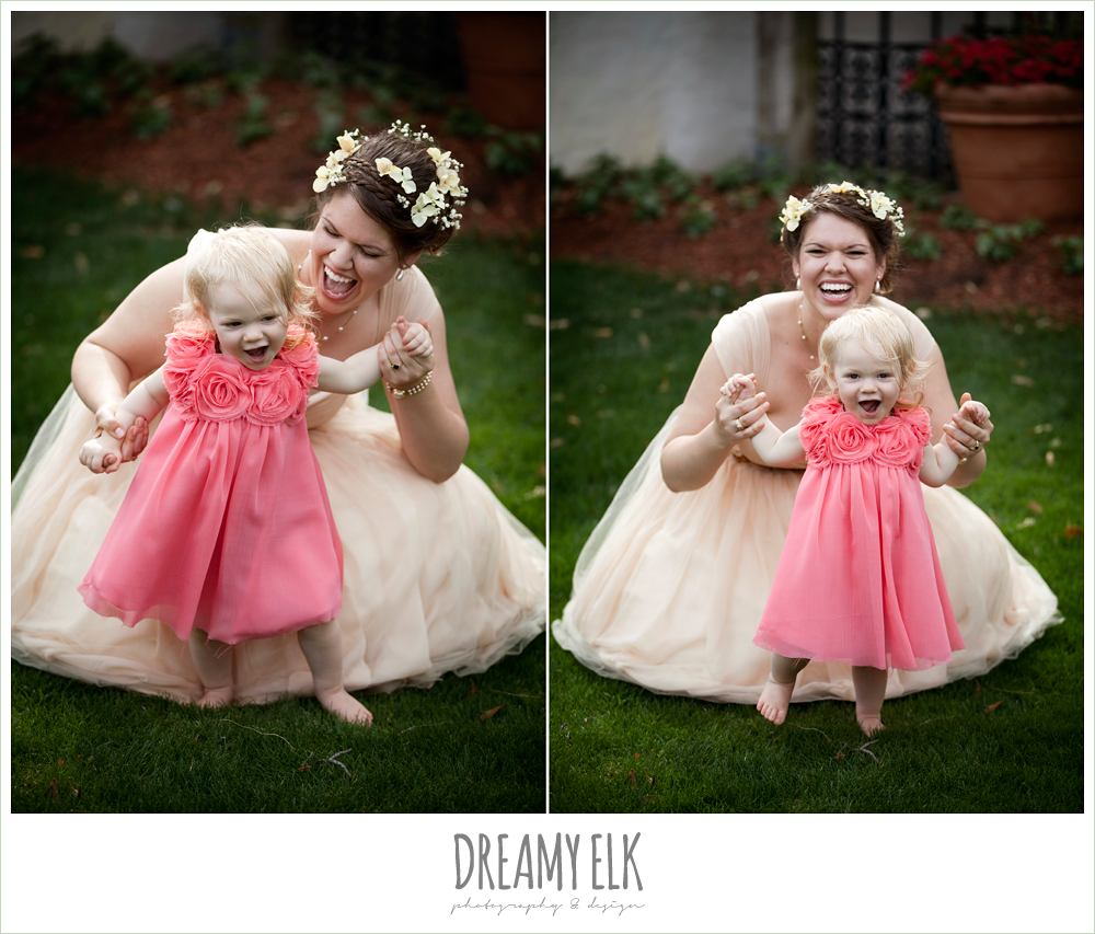 ashley, dallas arboretum bridals, adorable bride with daughter