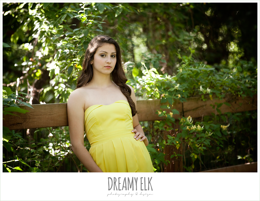 evan high school senior yellow dress serious