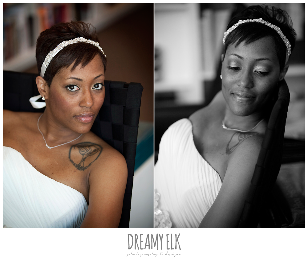 2 bre'onna, brazos bookstore bridals, bride with tattoos