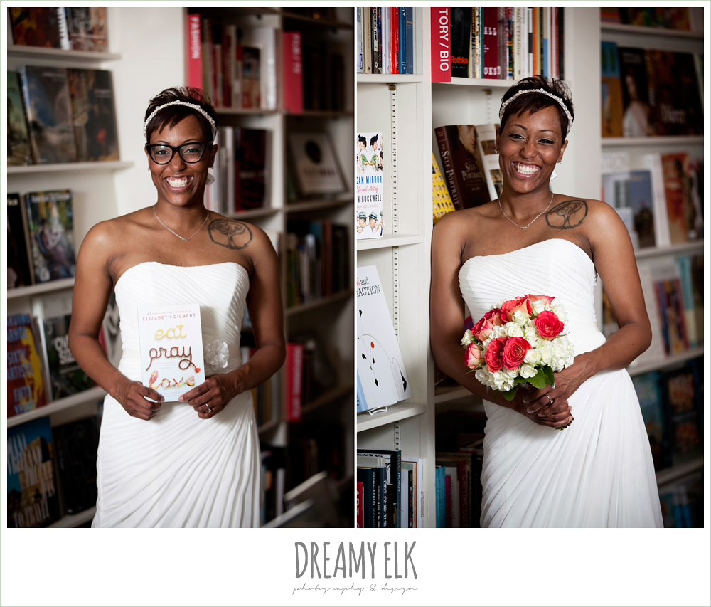 15 bre'onna, brazos bookstore bridals, , bride with tattoos and glasses