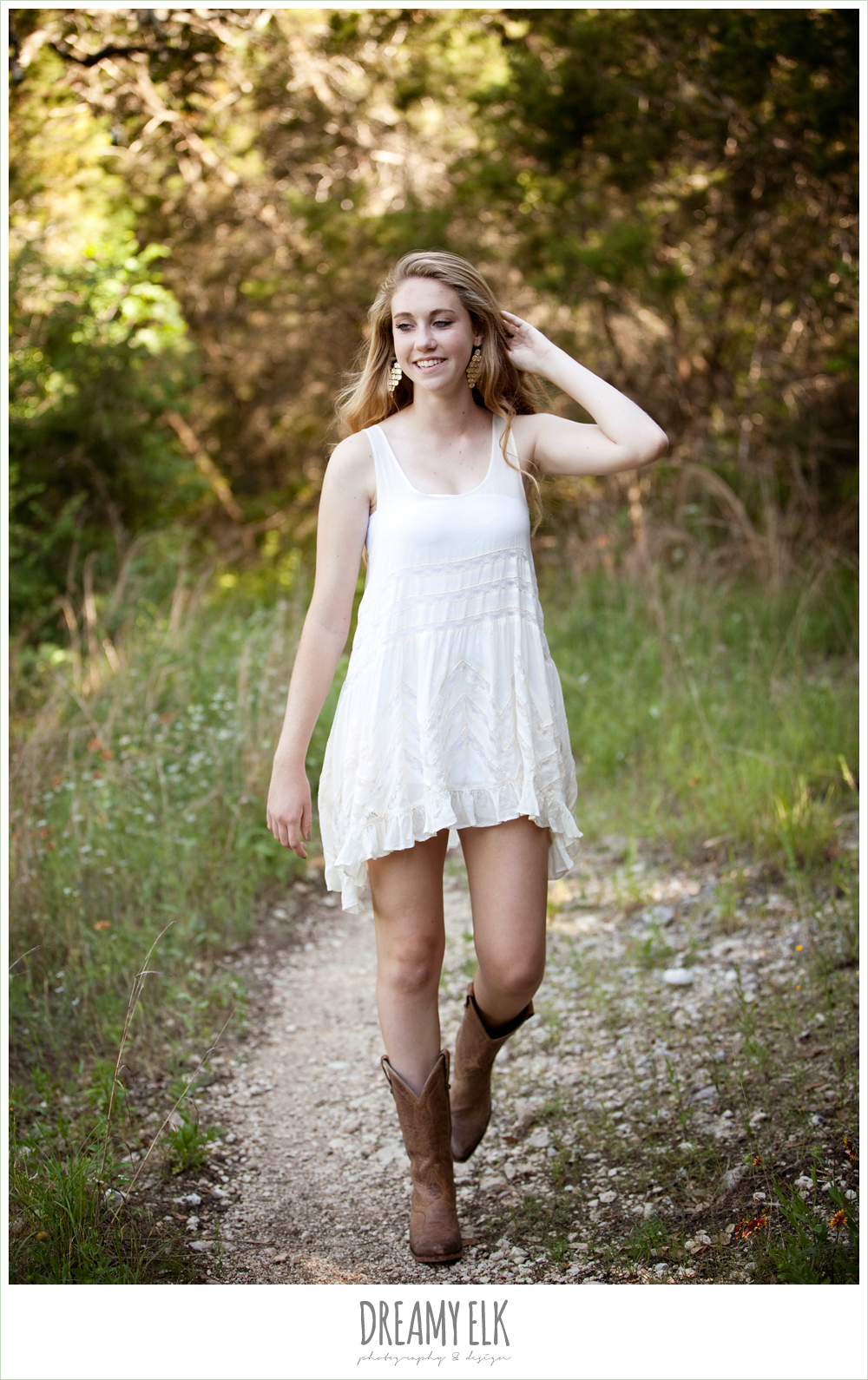 sydney high school senior austin tx white dress and boots