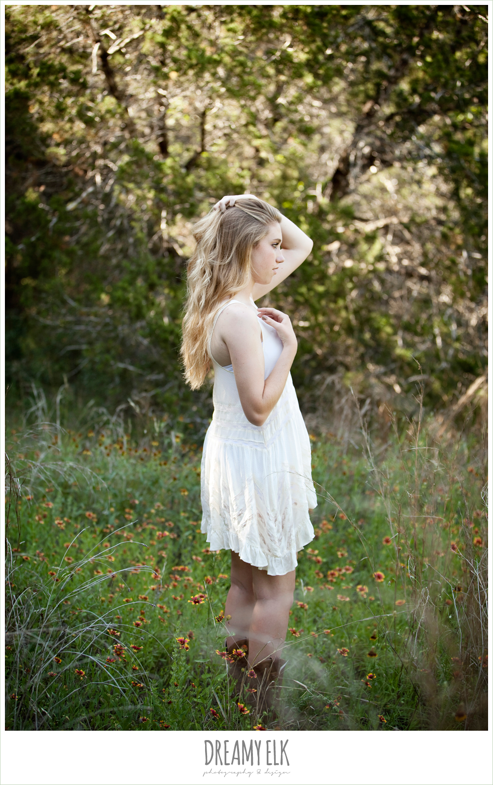 sydney high school senior austin texas white dress and boots
