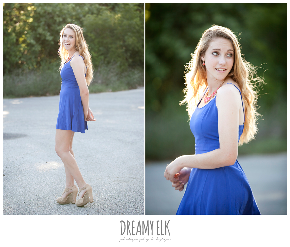 sydney high school senior austin texas blue dress and wedges