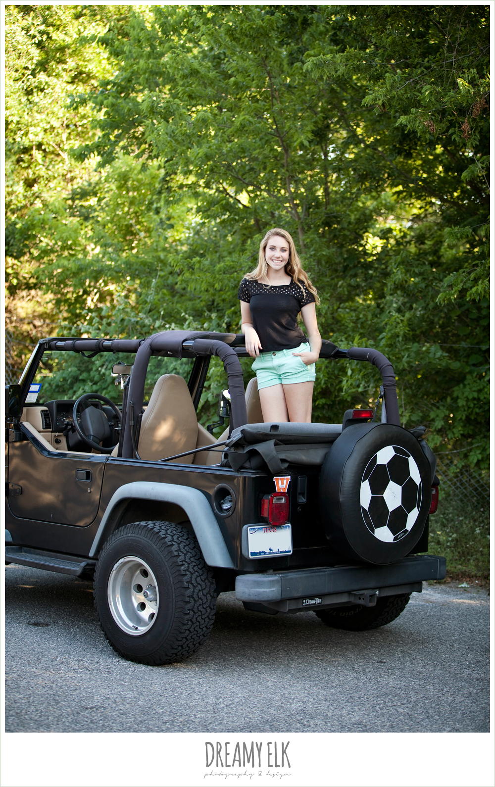 sydney high school senior austin texas jeep vehicle