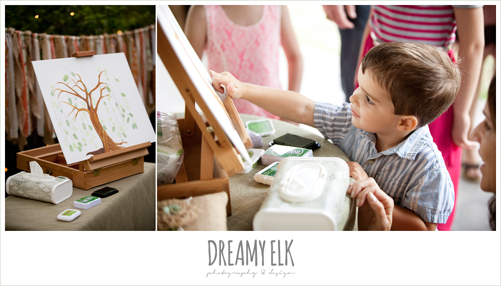 finger painting guest book