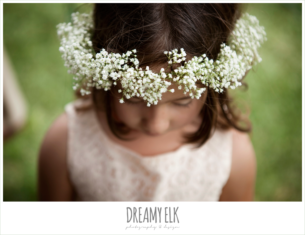 baby's breath flower wreath for flower girl