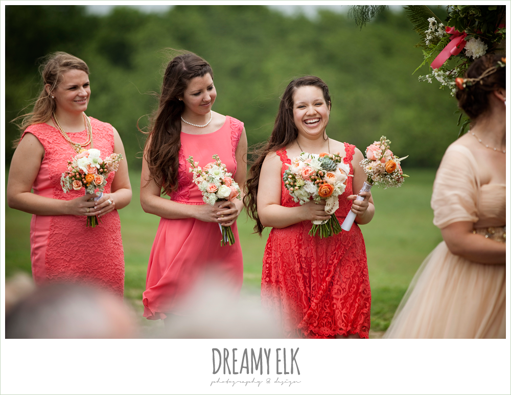 coral bridesmaids dress