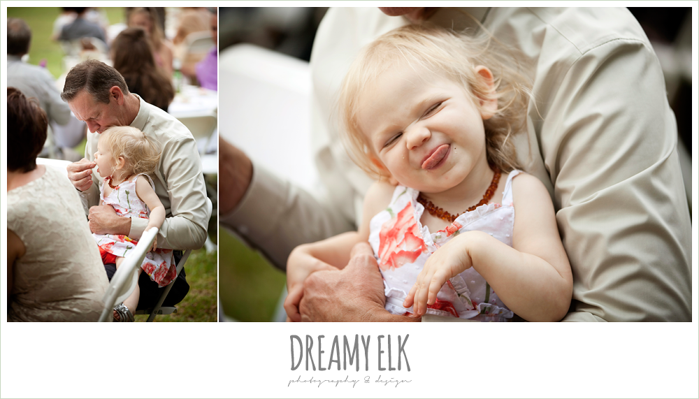 funny little girl at wedding