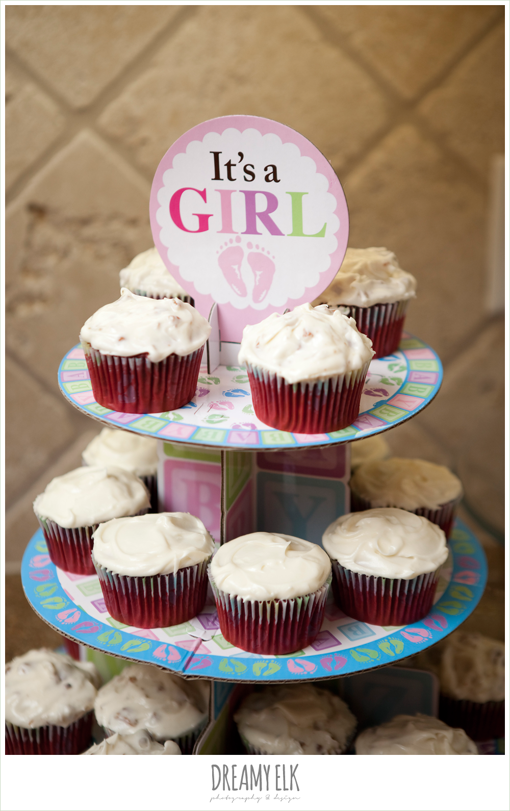 it's a girl, cupcake tray