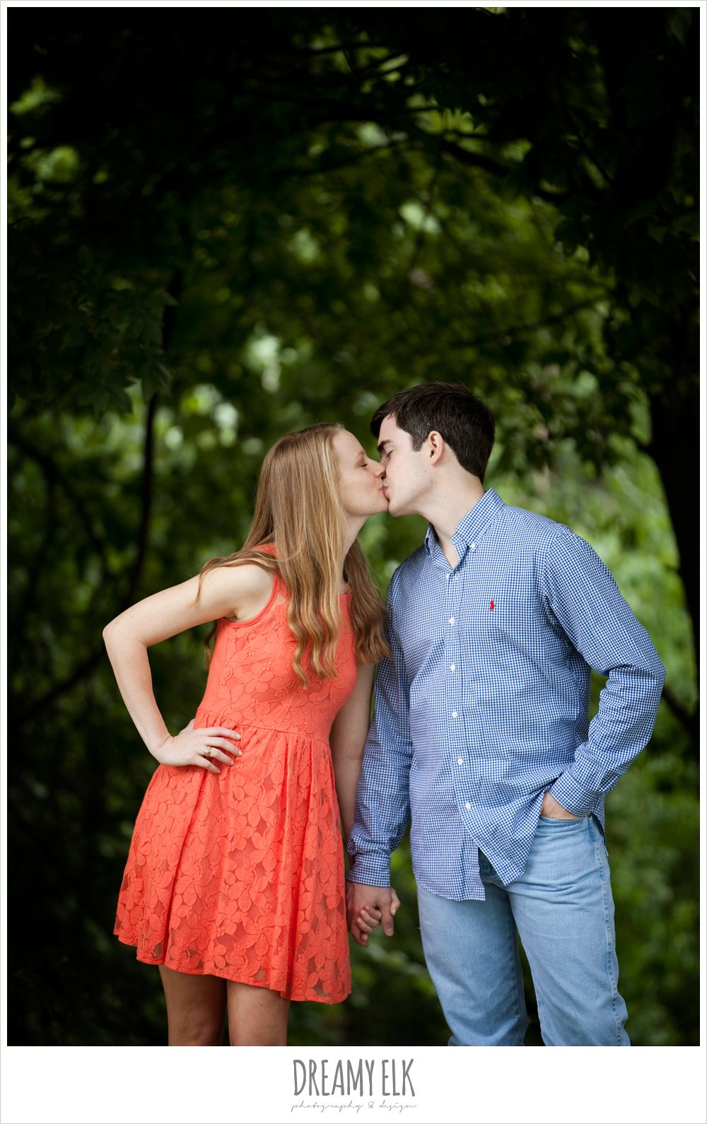 zilker park, casual outdoor engagement photo