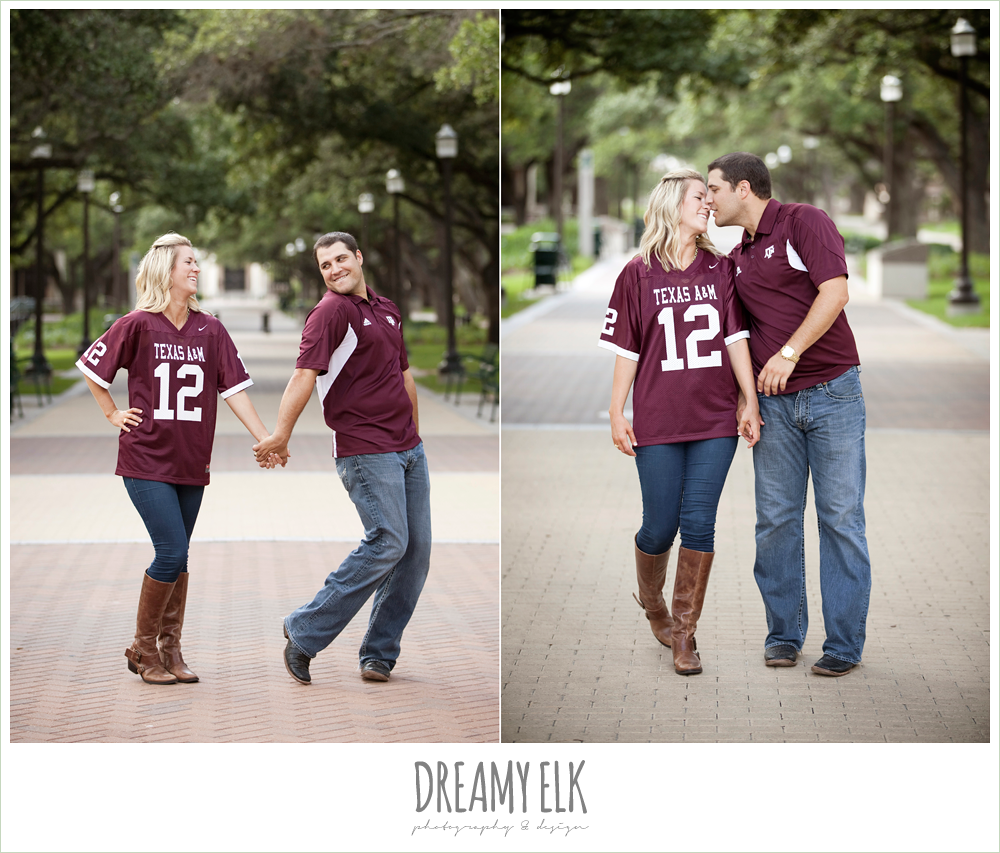 texas a&m university campus, funny engagement photo
