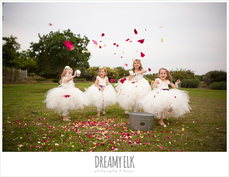 flower girls, dreamy elk photography and design