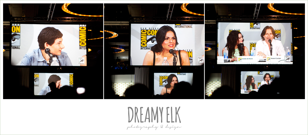 Jared Gilmore (Henry), Lana Parrilla (Evil Queen/Regina), Emilie de Ravin (Belle), & Robert Carlyle (Rumplestiltskin/Mr. Gold)
