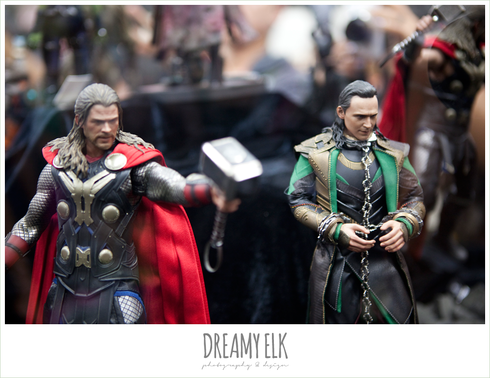 thor and loki figurines, comic con 2014