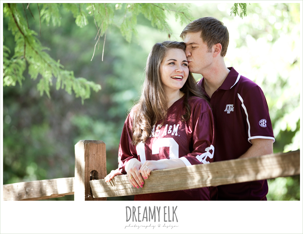 red bud isle, austin, aggie engagement photo