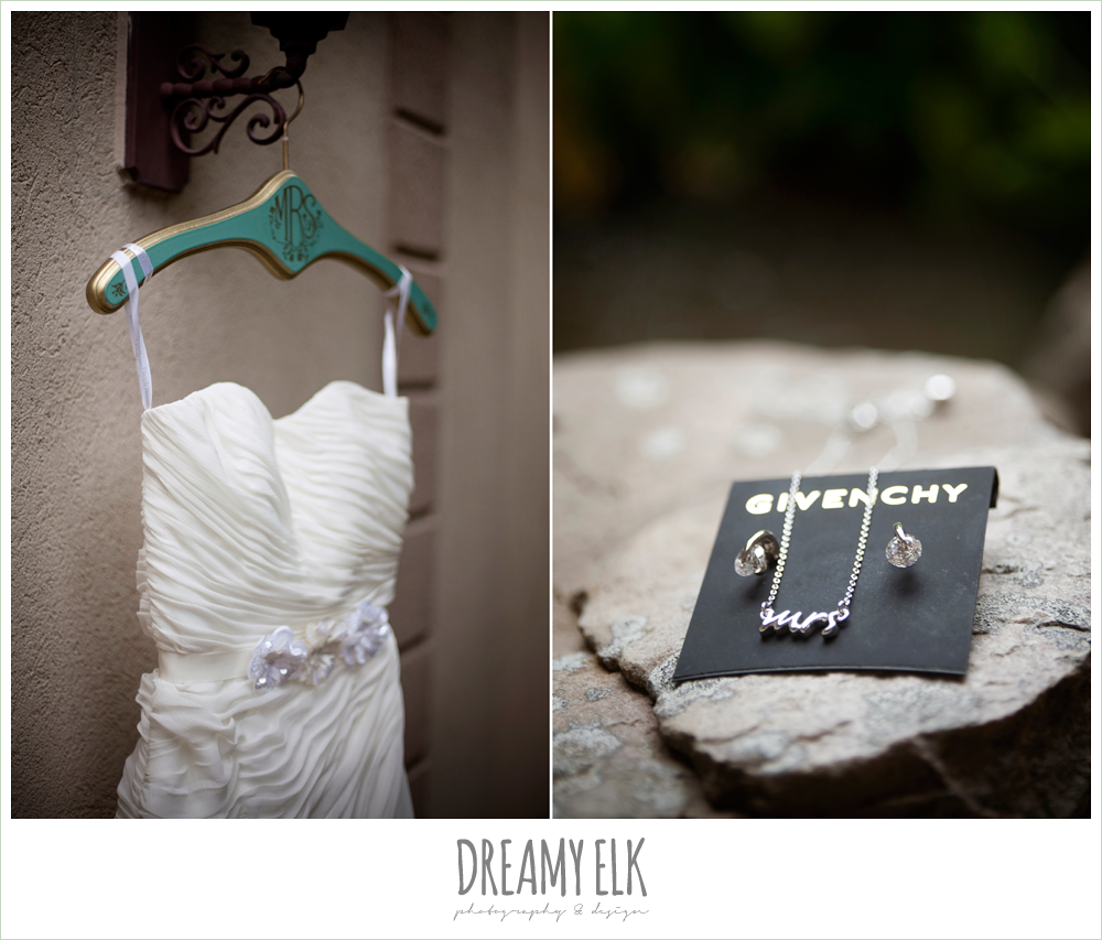 strapless wedding dress, wedding jewelry, dreamy elk photography and design