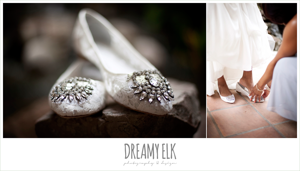 lace and rhinestone wedding flats, dreamy elk photography and design
