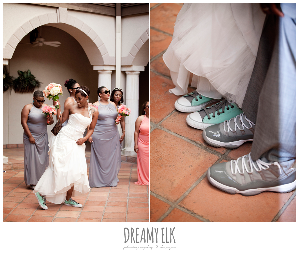 custom grey wedding converse, strapless wedding dress, northwest forest conference center, dreamy elk photography and design