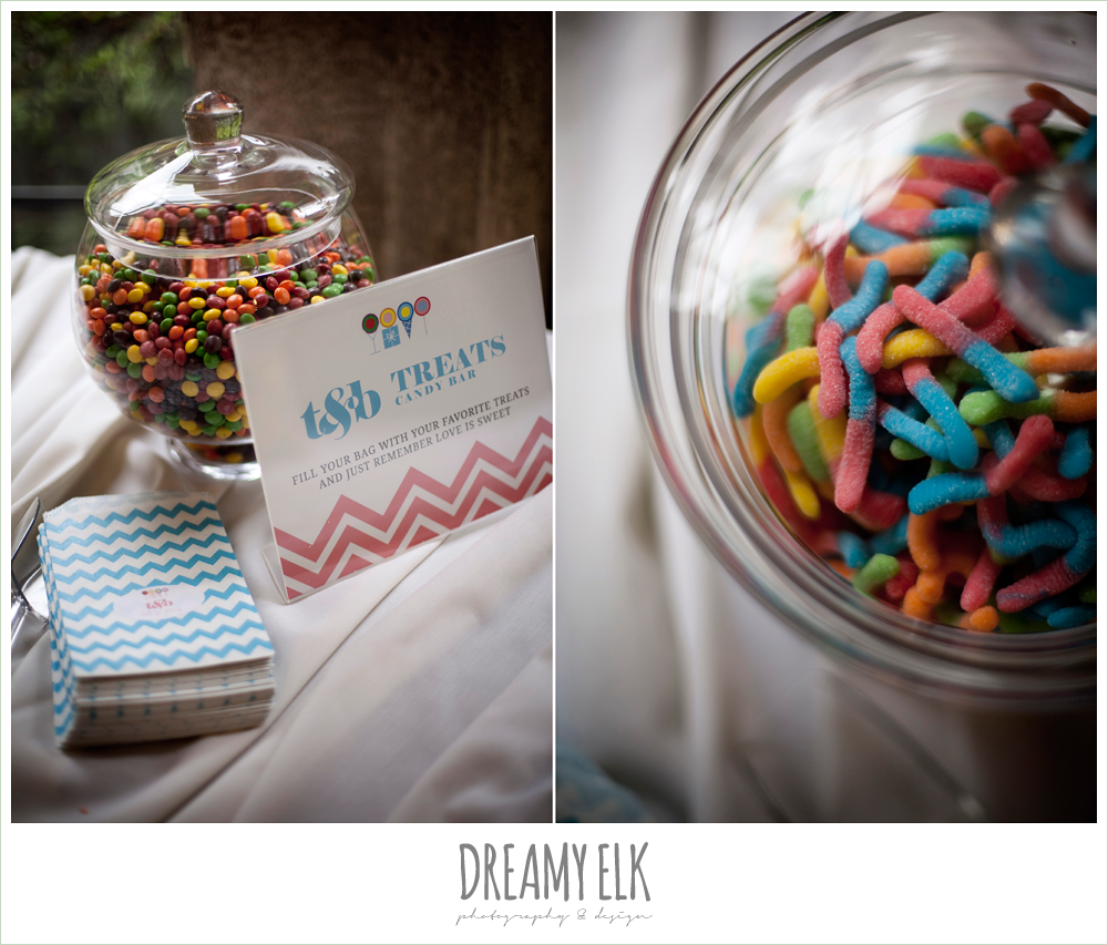 candy table at wedding, northwest forest conference center, dreamy elk photography and design