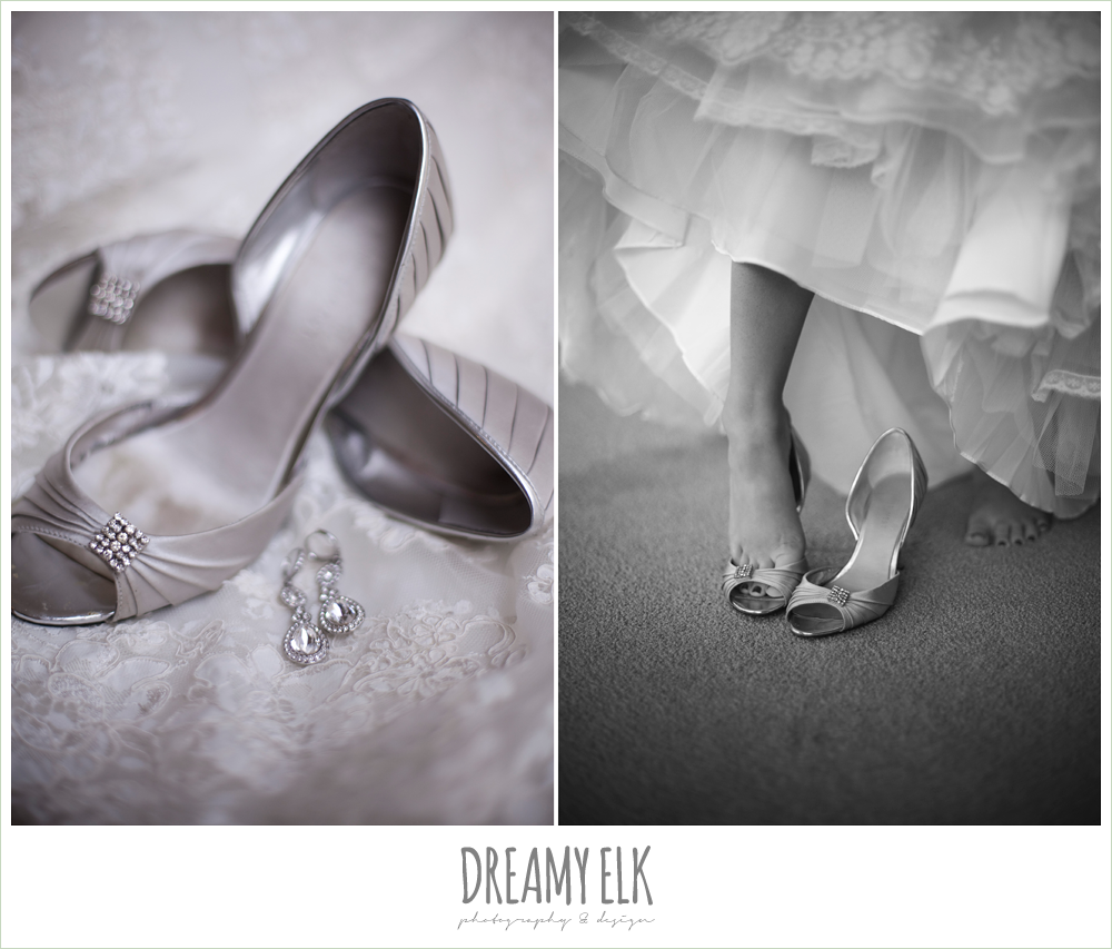 silver wedding shoes, dreamy elk photography and design