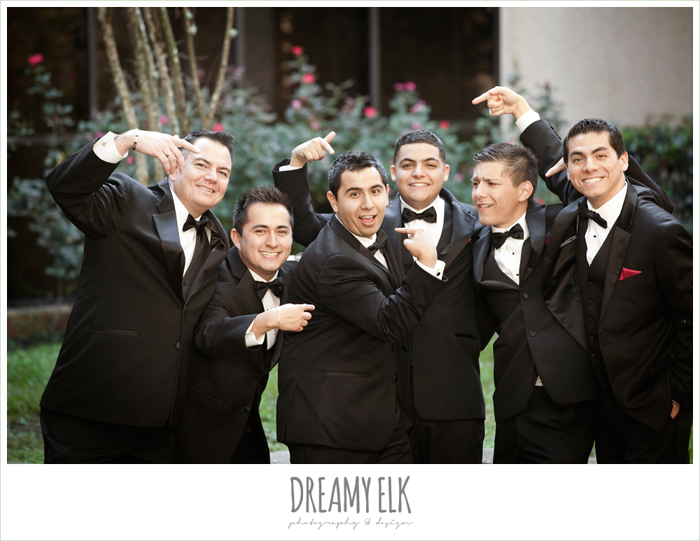 funny groomsmen photo, classic tuxedo, dreamy elk photography and design