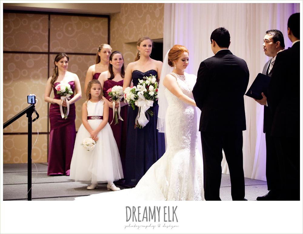 hilton hotel ballroom, university of houston, wedding ceremony, dreamy elk photography and design