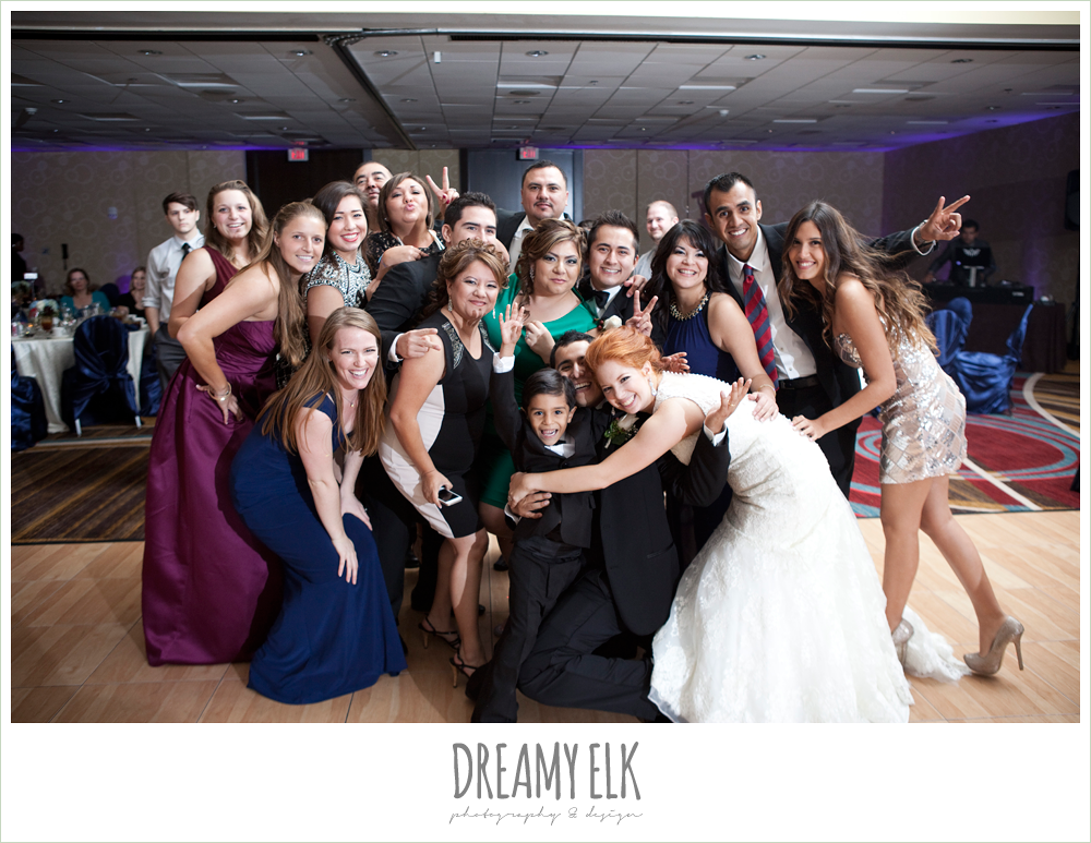 wedding guests, hilton hotel ballroom, university of houston, dreamy elk photography and design
