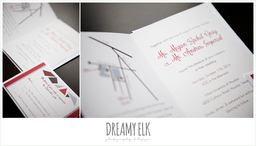 jewel toned wedding invitation, geometric shapes, dreamy elk photography and design