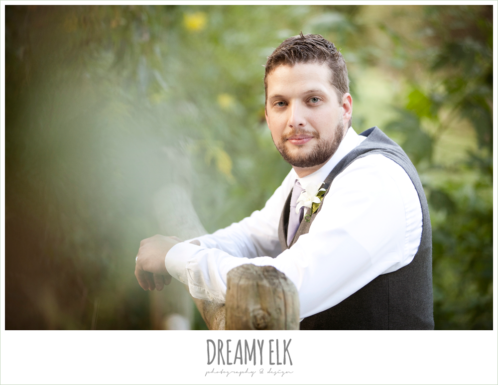 groom in vest and jeans, rustic chic post wedding shoot, dreamy elk photography and design