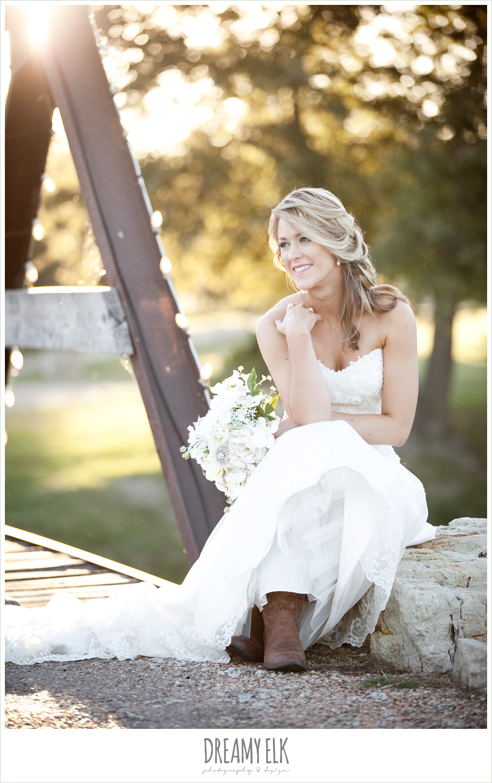 lauren, rock lake ranch, rustic fall bridal photos with cowboy boots, dreamy elk photography and design