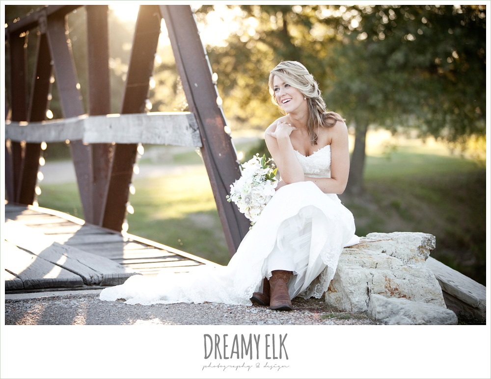 wedding dress and cowboy boots, dreamy elk photography & design