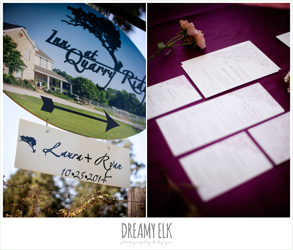 the inn at quarry ridge, october wedding, invitation suite, dreamy elk photography and design