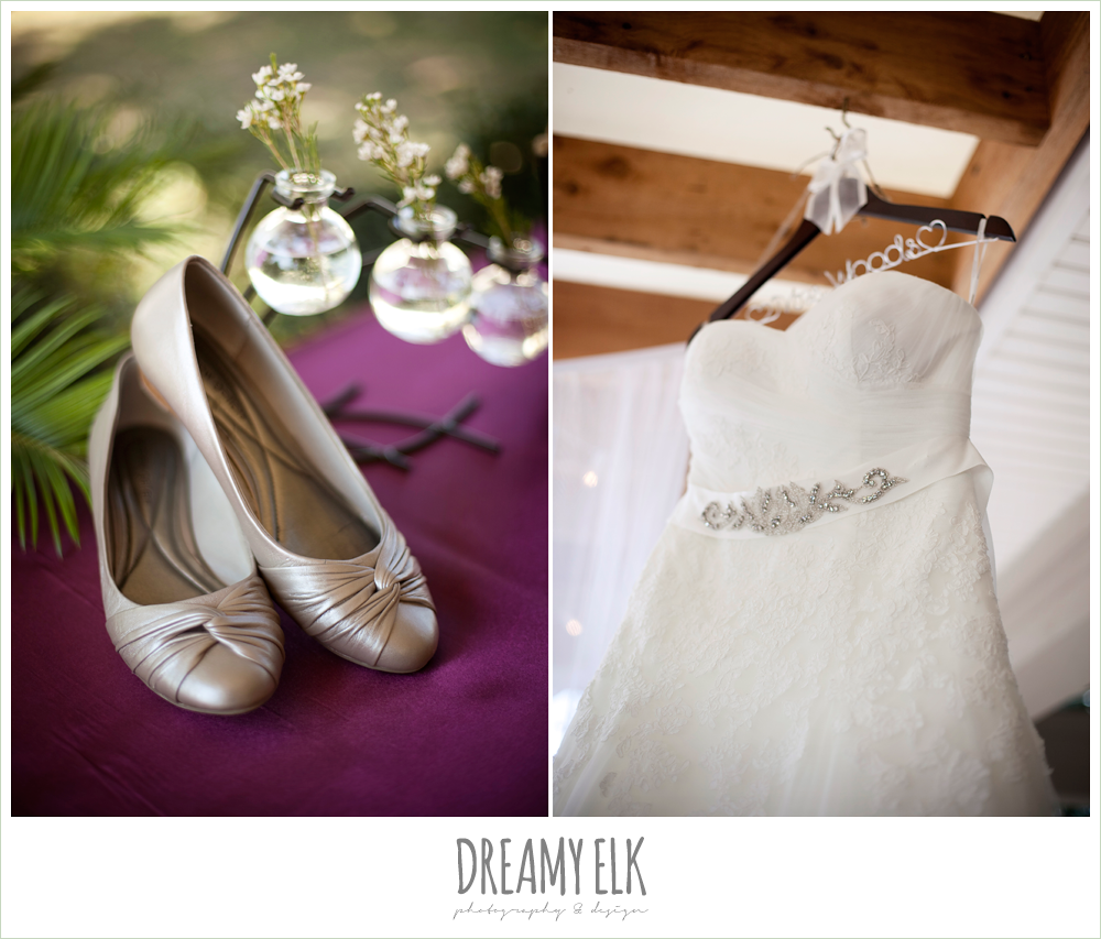 flat wedding shoes, strapless sweetheart wedding dress, dreamy elk photography and design
