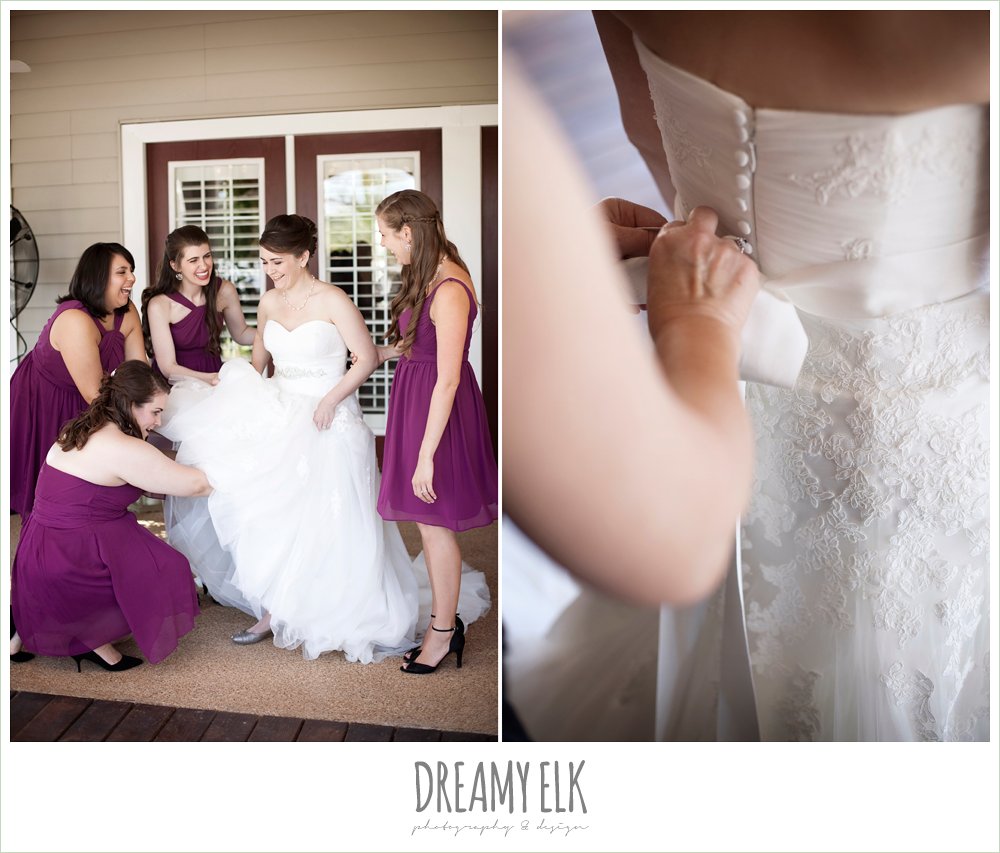 the inn at quarry ridge, october wedding, raspberry wedding dresses, dreamy elk photography and design