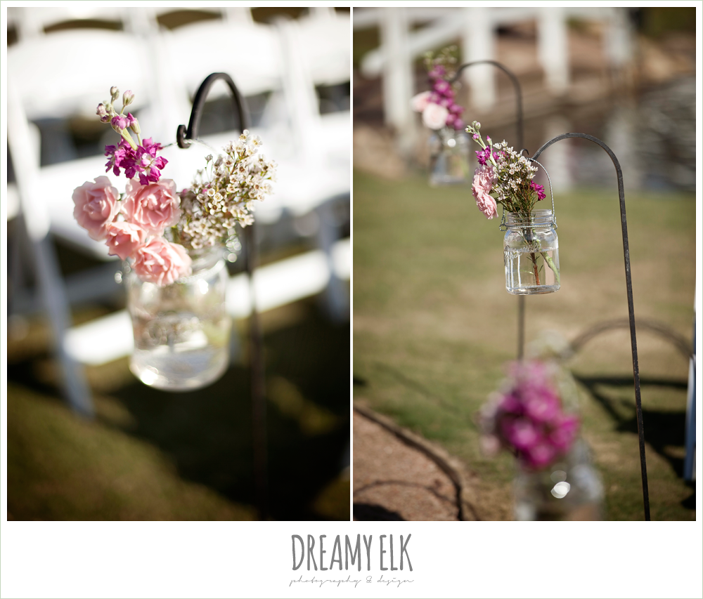 busy lil bee florals, ceremony aisle flowers, october wedding, inn at quarry ridge, dreamy elk photography and design